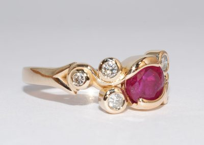 William Greene Fine Jewelry Design - Custom Ring Ruby - Copy