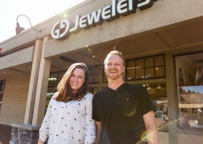 William Greene Fine Jewelry Design - William and Lily Greene in front of Scotts Valley storefront