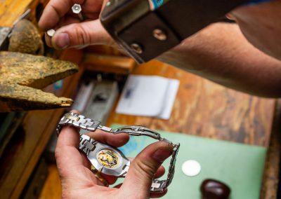 William Greene Fine Jewelry Design - Watch Services - Hands repairing a watch